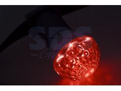 Лампа шар e27 10 LED ∅50мм красная 24В