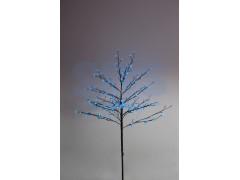 """Дерево комнатное """"Сакура"""", коричневый цвет ствола и веток, высота 1. 2 метра, 80 светодиодов синего цвета, трансформатор IP44 NEON-NIGHT"""