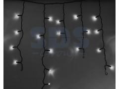 Гирлянда Айсикл (бахрома) светодиодный, 2, 4 х 0, 6 м, черный провод, 220В, диоды белые, NEON-NIGHT