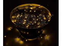 "Гирлянда ""Твинкл Лайт"" 10 м, черный ПВХ, 100 диодов, цвет желтый"