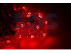 Гирлянда LED Galaxy Bulb String 10м, белый ПВХ, 25 ламп*6 LED КРАСНЫЕ, влагостойкая IP54