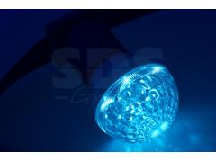 Лампа шар e27 10 LED ∅50мм синяя 24В