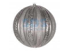 """Елочная фигура """"Арбуз"""", 25 см, цвет серебряный"""