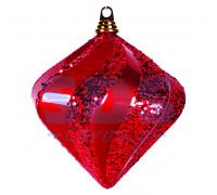 """Елочная фигура """"Алмаз"""", 20 см, цвет красный"""