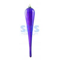 """Елочная фигура """"Тающая сосулька"""", 28 см, цвет фиолетовый"""
