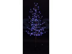 """Дерево комнатное """"Сакура"""", ствол и ветки фольга, высота 1. 5 метра, 120 светодиодов синего цвета, трансформатор IP44 NEON-NIGHT"""