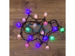 Гирлянда светодиодная Кубики 20 LED МУЛЬТИКОЛОР 2,8 метра с контроллером