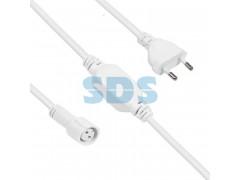 Комплект подключения для уличных гирлянд 230В / 4А, цвет провода: белый, IP65