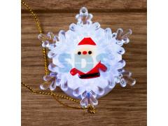Дед мороз на снежинке RGB 5,5*5,5 см