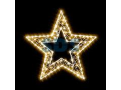 Декоративная 2D фигура Звезда-2 с отвертием 80 см (цвет на выбор)