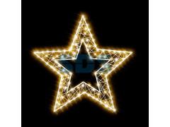 Декоративная 2D фигура Звезда-2  с отверстием 150 см (цвет на выбор)