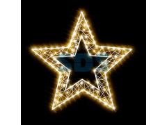 Декоративная 2D фигура Звезда-2 с отверстием 100 см (цвет на выбор)