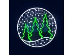 Декоративная 2D фигура Зимний лес 150 см (цвет на выбор)