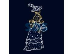 Декоративная 2D фигура Дама 195 см (цвет на выбор)
