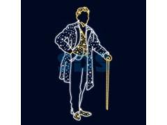Декоративная 2D фигура Кавалер 190 см (цвет на выбор)