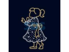 Декоративная 2D фигура Девочка 140 см (цвет на выбор)