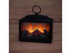 Декоративный камин Сканди с эффектом живого огня 18х9х16 см, батарейки 3хС (не в комплекте)