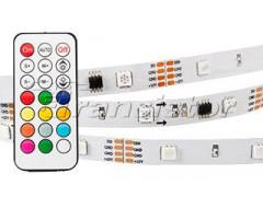 Лента SPI-5000SE-IR21B 12V RGB (5060,150 LED x3,1804, ПДУ)